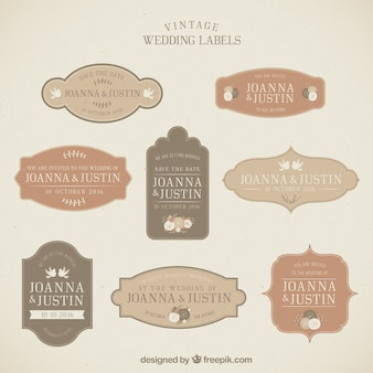 Vintage Wedding Labels Collection