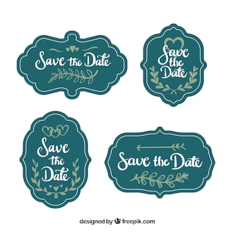 Vintage wedding labels with fun style