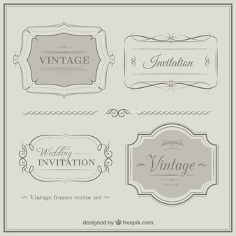 Vintage weeding invitation ornaments