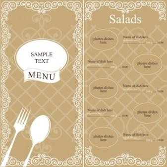 Vintage western food menu vector