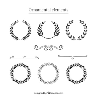 Vintage wreath and dividers
