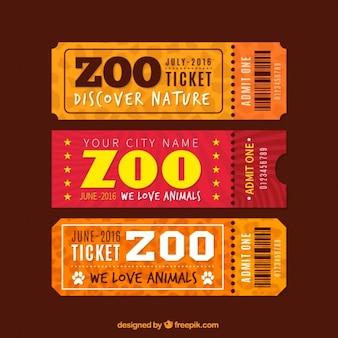 Vintage zoo tickets set