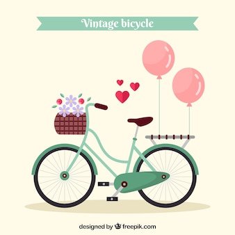 Vintagebike with lovely elements