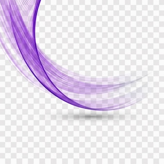 Violet wavy shape