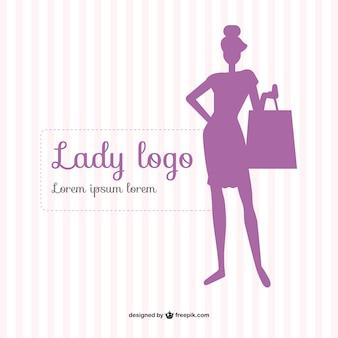 Violet woman silhouette logo