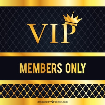 Vip background with golden crown