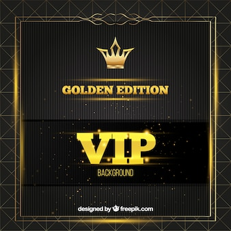 Vip background with golden details