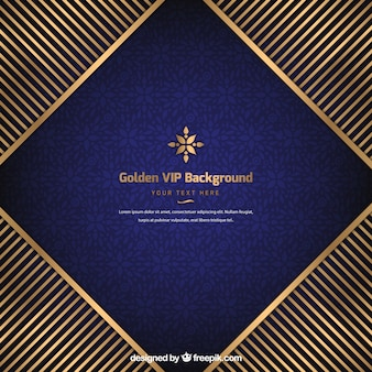 Vip background with golden stripes
