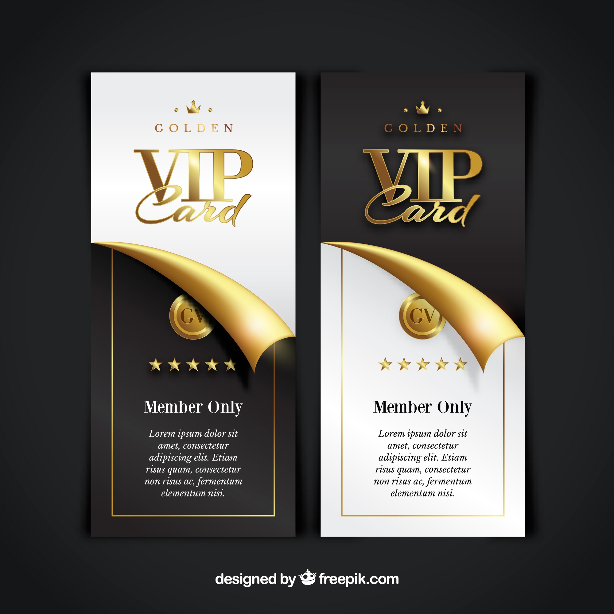 Vip member card collection