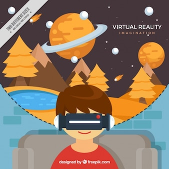 Virtual landscape background