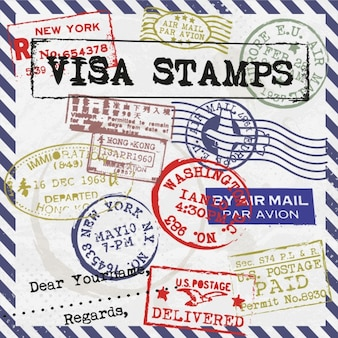 Visa stamps card