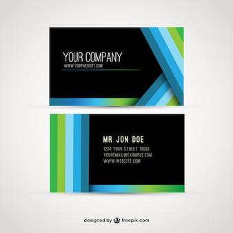 Visit card with stripes