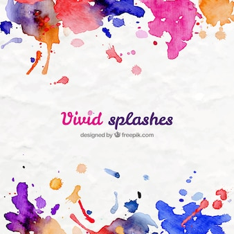 Vivid splashes