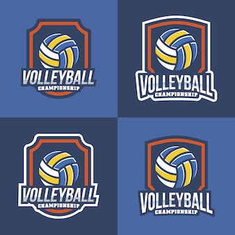 Volleyball logo collection