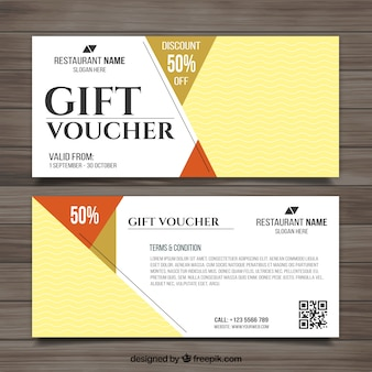 Voucher for food with pictures