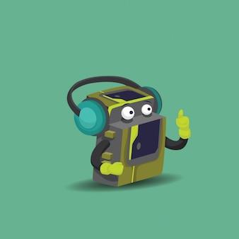 Walkman illustration background