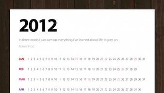 Wall Calendar Template 2012