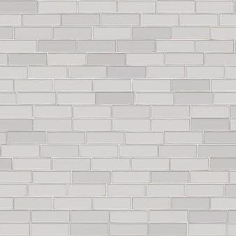 Wall of white bricks background