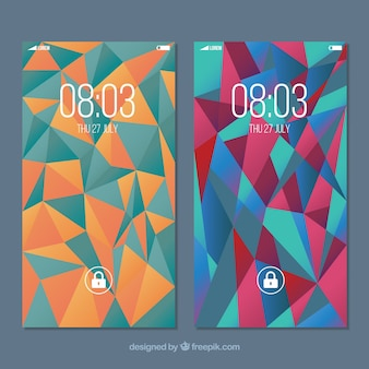 Wallpapers with polygonal shapes of mobile