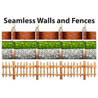 Walls and fences collection