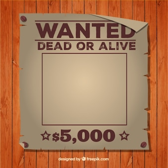 Wanted dead or alive poster template