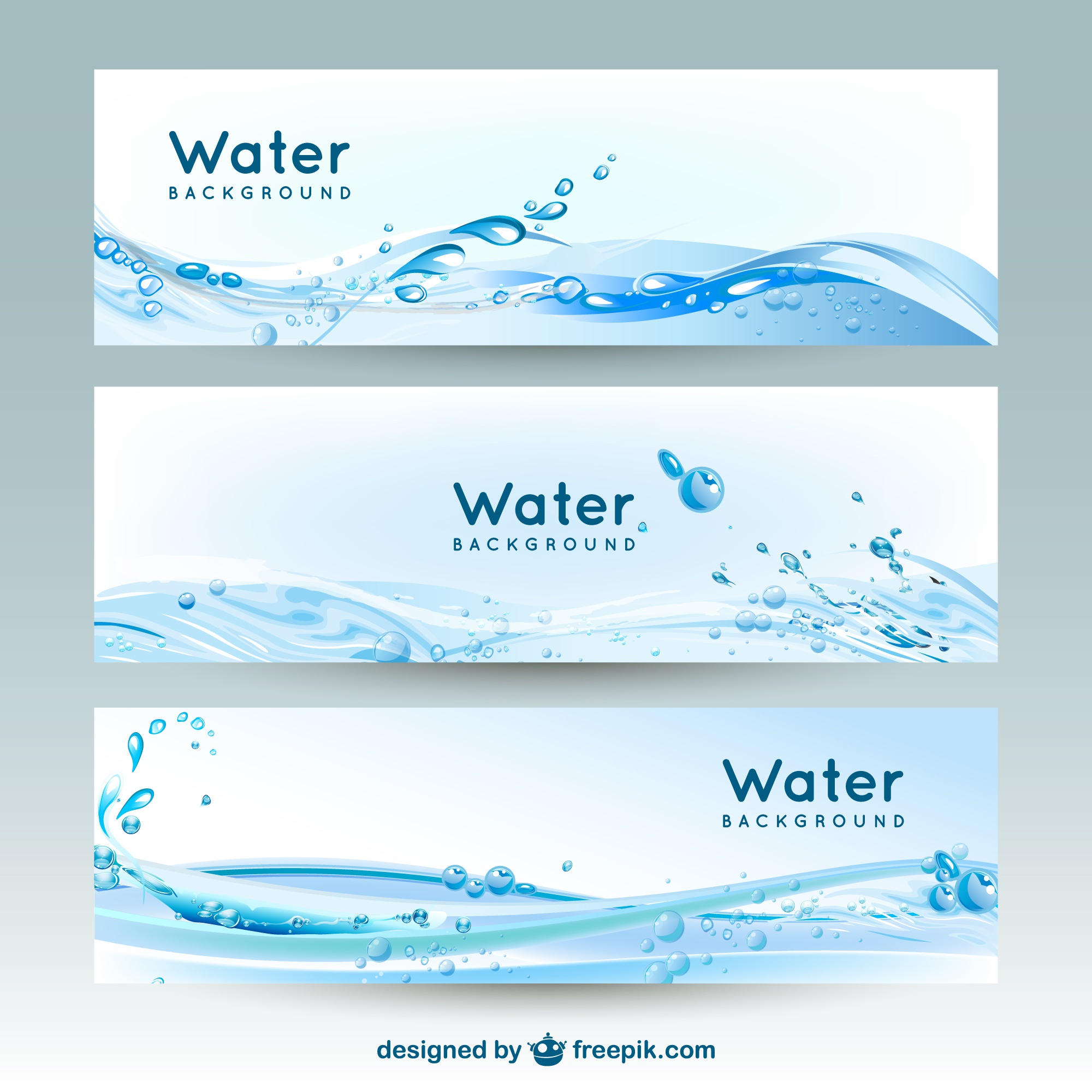 Water banner backgrounds