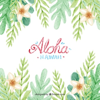 Water color aloha background