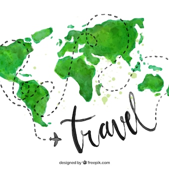 Water color travel background