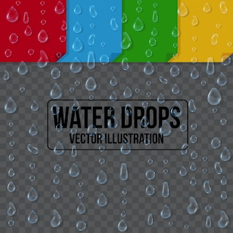 Water drops on background