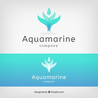 Water flower logo template