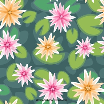Water lilies pattern