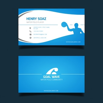 Water polo business card