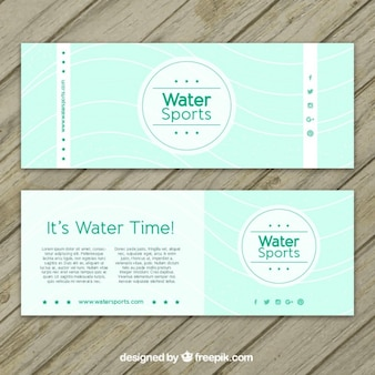 Water sport banners