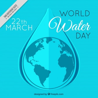 Water world day blue striped background