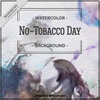 Watercolor abstract and blur background
