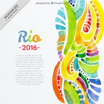 Watercolor abstract background of rio 2016