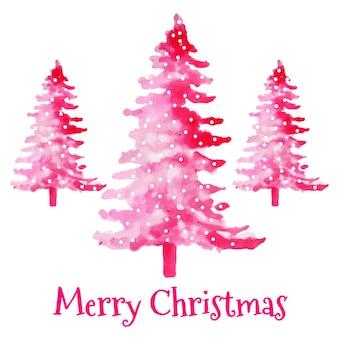 水彩抽象的なクリスマスツリー