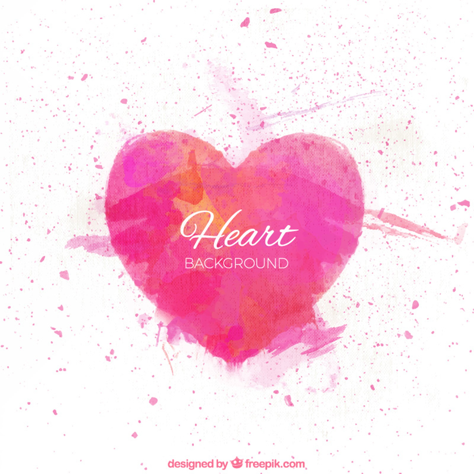 Watercolor abstract heart background