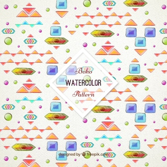 Watercolor abstract shapes pattern