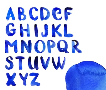 Watercolor alphabet design