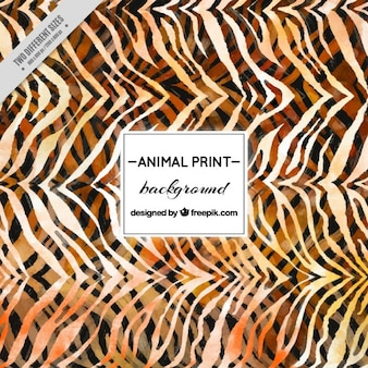 Watercolor animal background