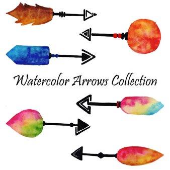 水彩の矢のコレクション
