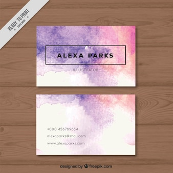Watercolor artistic business card