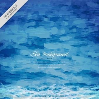 Watercolor artistic sea background