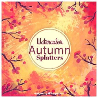 Watercolor autumn splatters