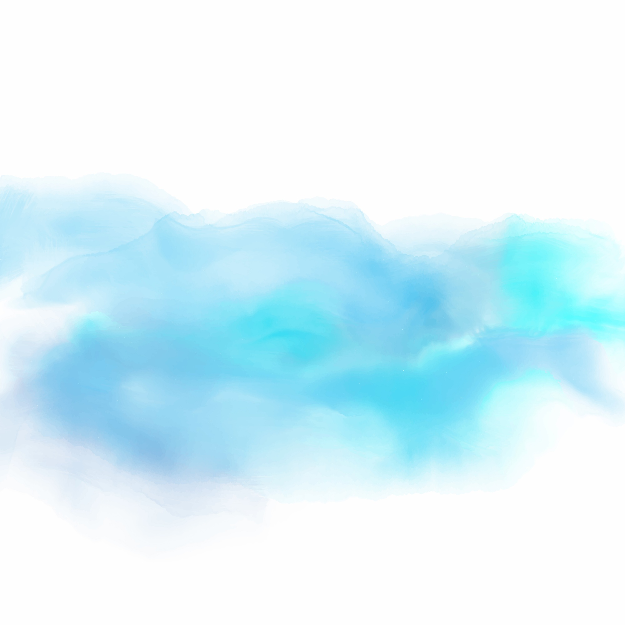 Watercolor background in shades of blue