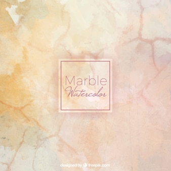 Watercolor background simulating marble