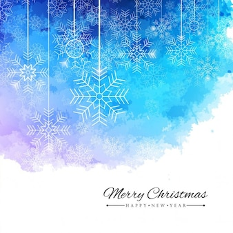 Watercolor background with christmas balls