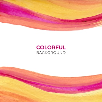 Watercolor background with colorful wavy shapes