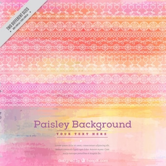 Watercolor background with decorative strips